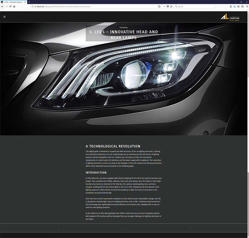 Automotive Lighting Digital Screenshot