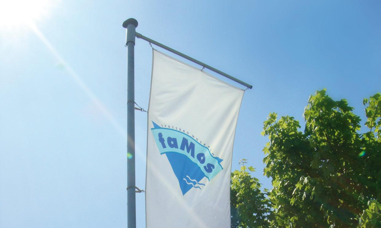 faMos Freibad Corporate Design Fahne