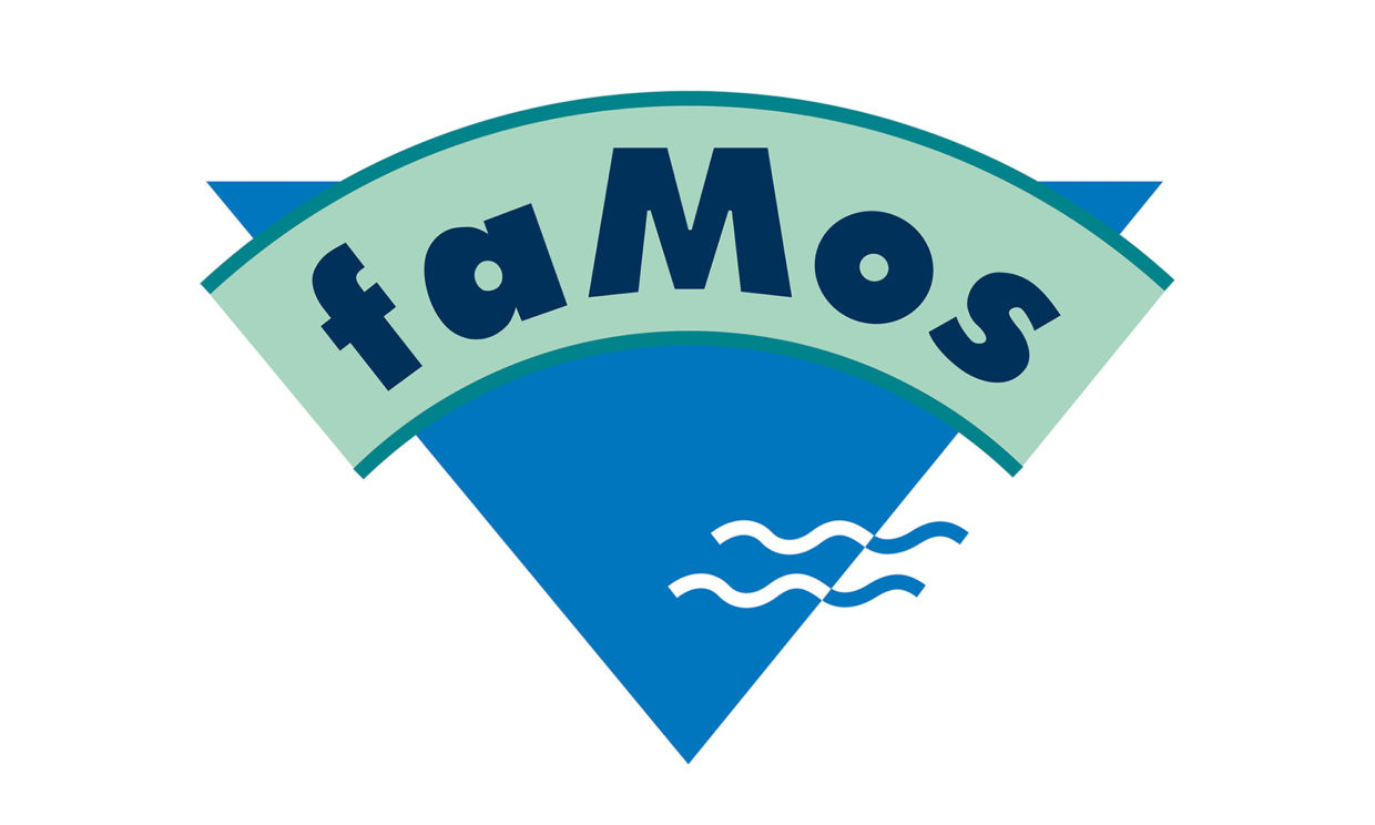 faMos Freibad Corporate Design Logo