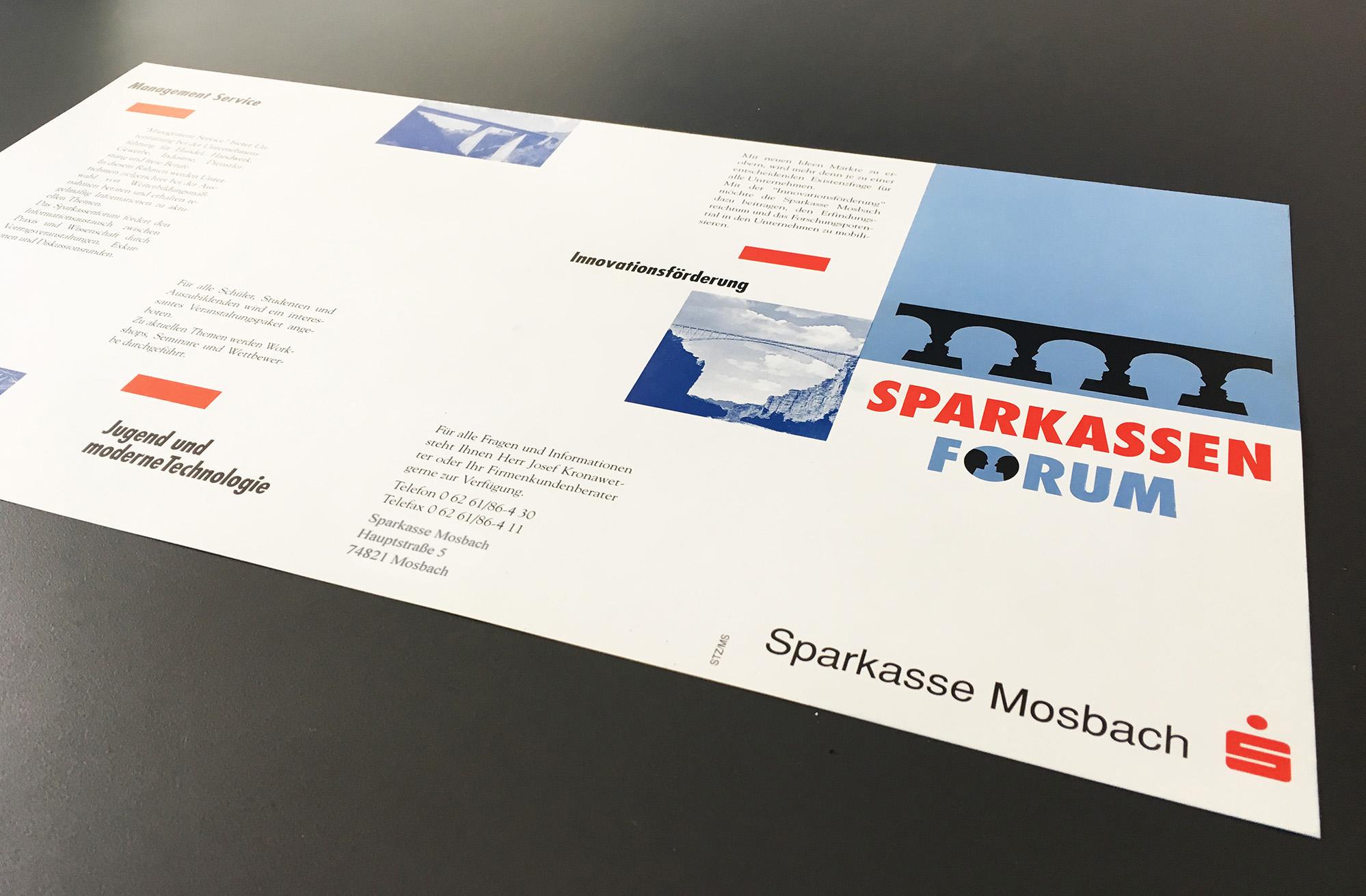 Sparkasse Mosbach Corporate Design aussen