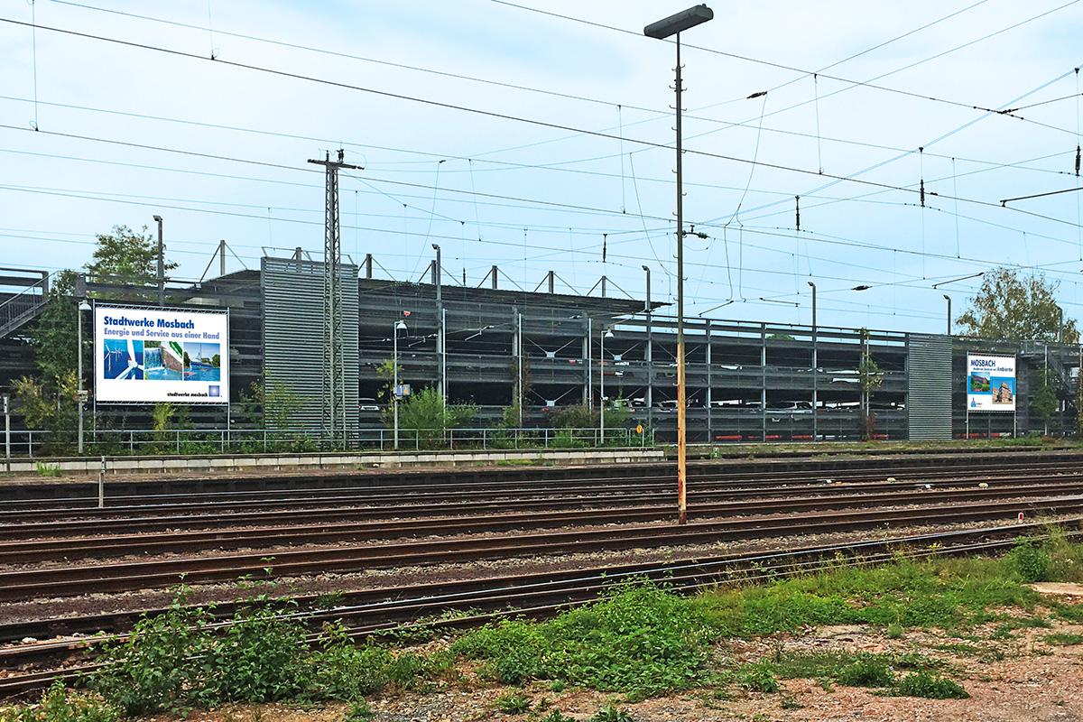 Stadtwerke Mosbach Großflächenwerbung Gesamtansicht