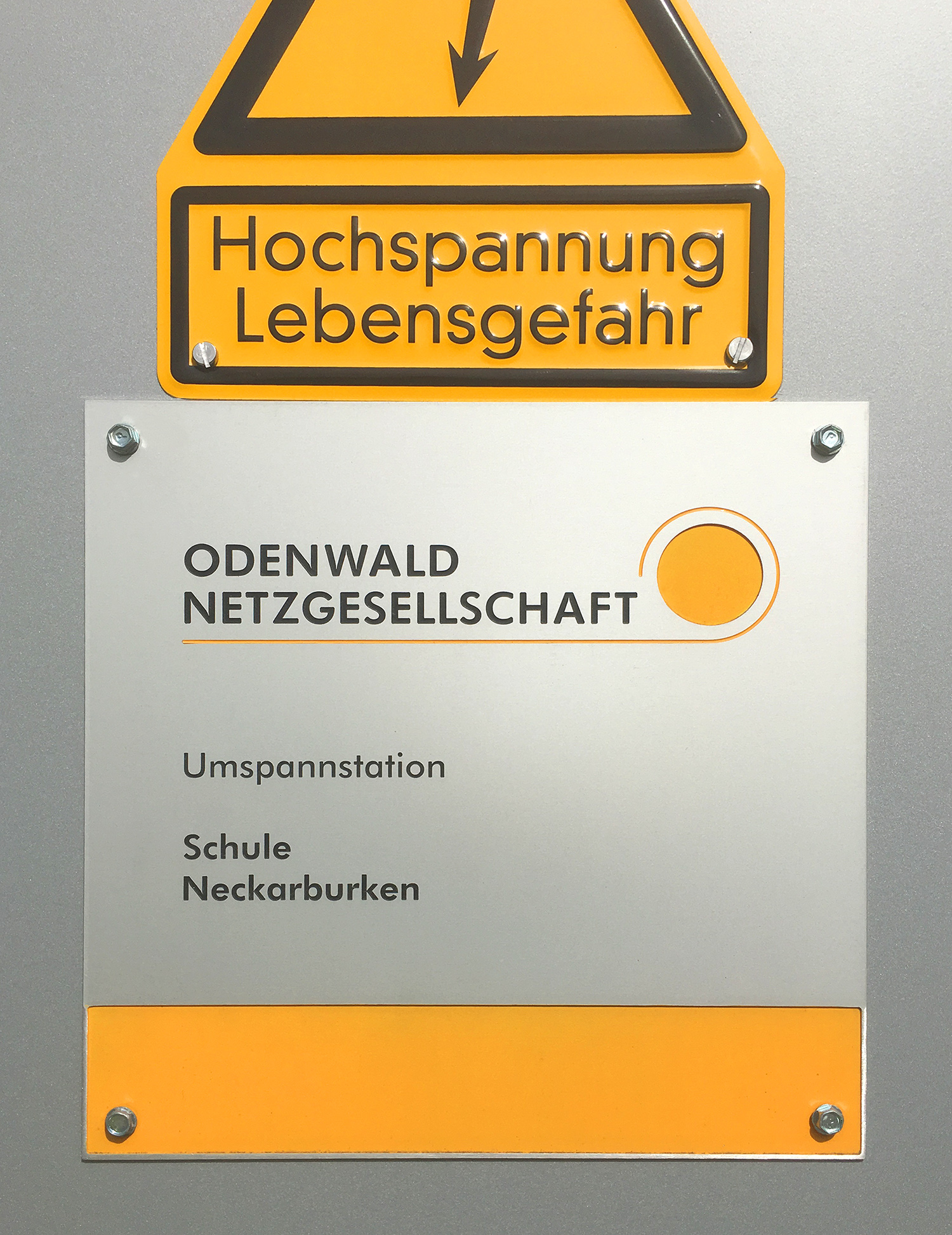 Odenwald Netzgesellschaft Corporate Design Trafostation