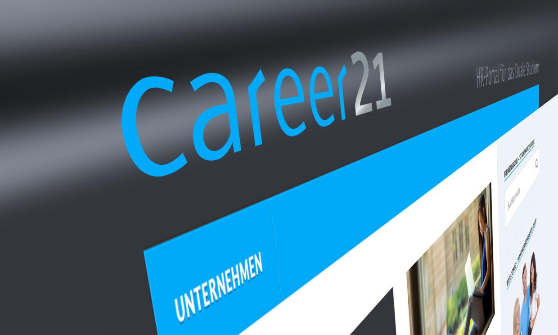 Webdesign Internet career21 Karriereportal Duales Studium DHBW Internet Webdesign Corporate Design STZ