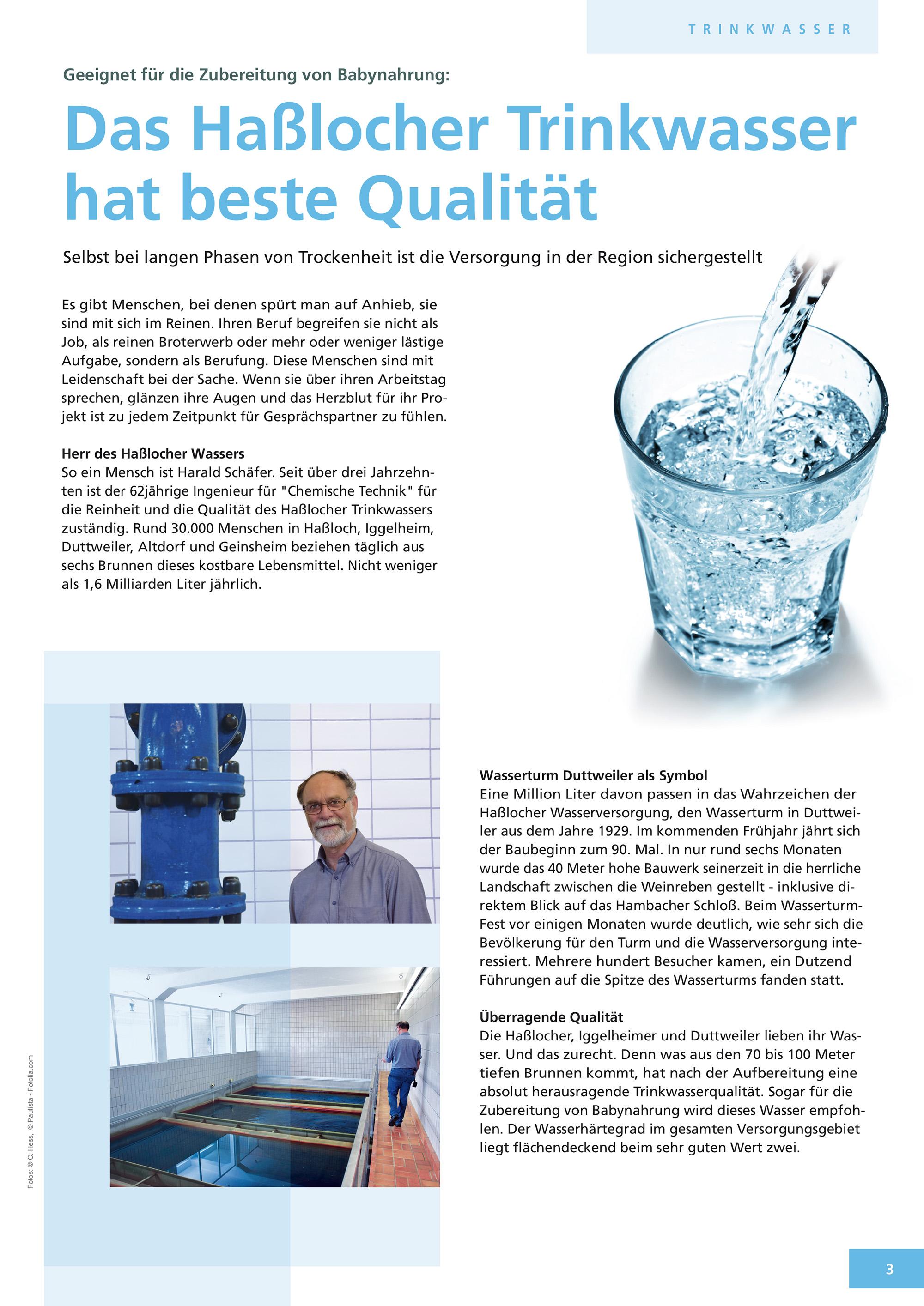 Gemeindewerke Haßloch Kundenzeitung Titel