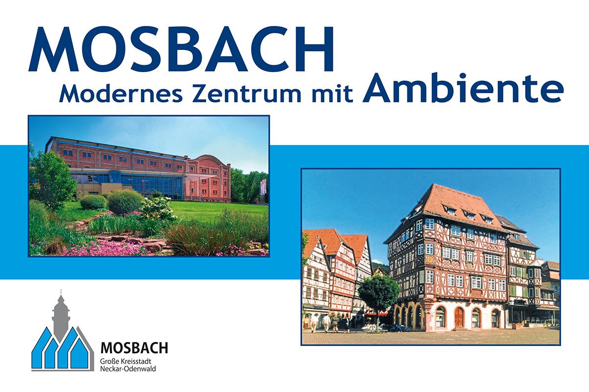 Stadtwerke Mosbach Großflächenwerbung Motiv Stadt