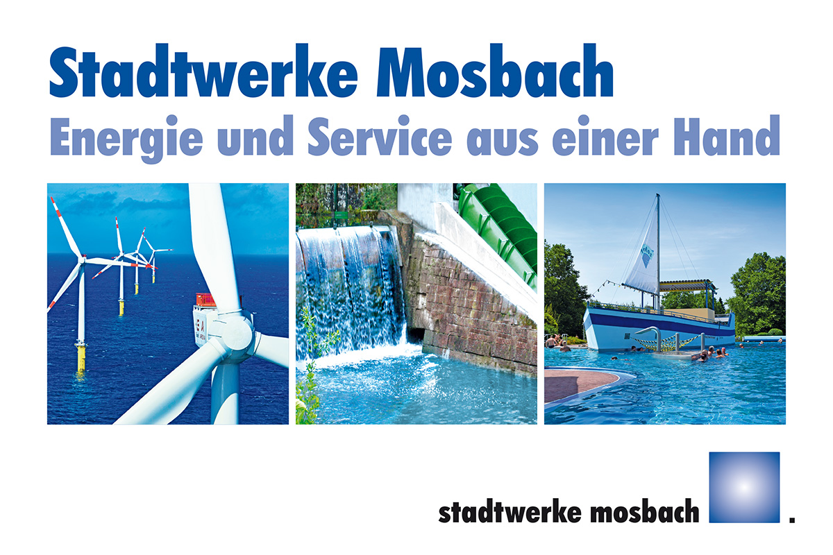 Stadtwerke Mosbach Großflächenwerbung Motiv SWM