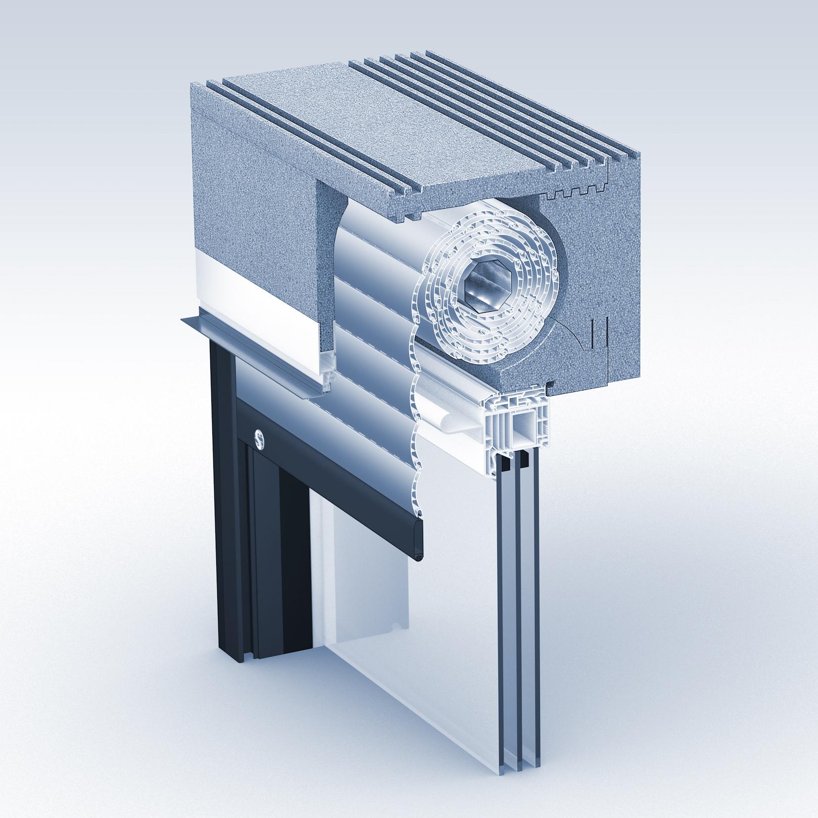 CAD 3D-Simulation Rolladen